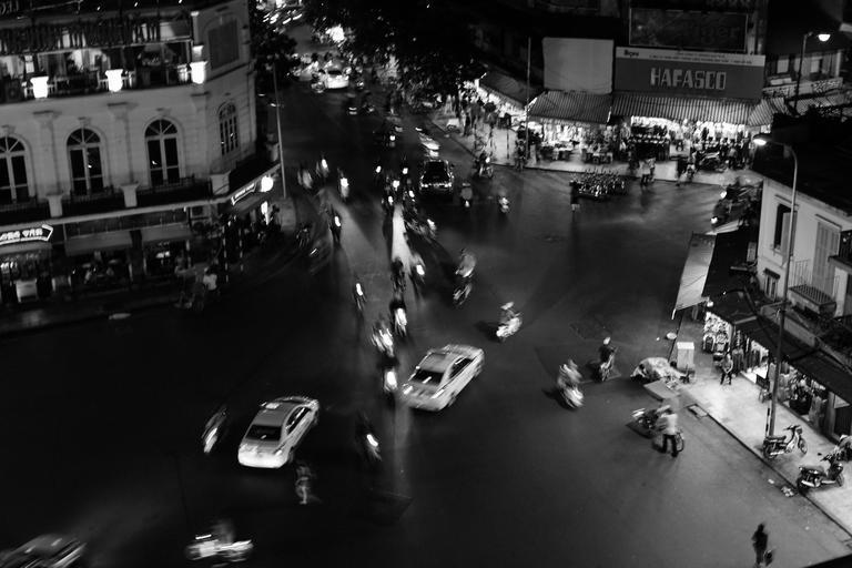 Noční provoz ve městě